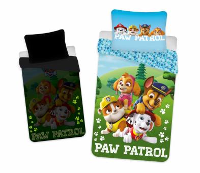 Jerry Fabrics Paw Patrol 140x200 + 70x90 cm Bettwäsche