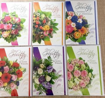 Geburtstagskarten Glückwunschkarten Blumen 51-6680