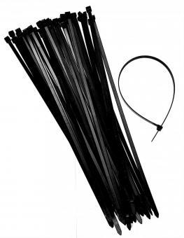 Kabelbinder 7,8x370mm  Kabelstrapse  schwarz 150 - 500 Stück
