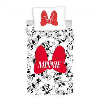 Minnie Kinder Bettwäsche Set Red Bow 140x200 cm