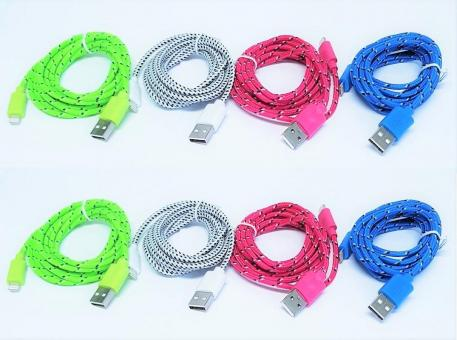 USB Ladekabel 2m für Iphone iPad 5 5S 6 6S 7 8 X Plus mini