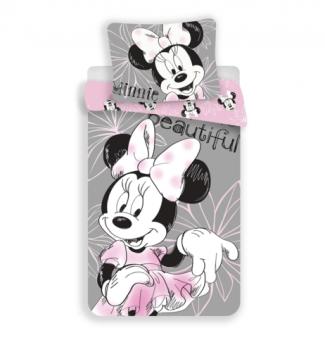 Jerry Fabrics Mickey & Friends Character Kinder Bettwäsche mit Reißverschluss Bettbezug 140 x 200 cm und Kissenbezug 70 x 90 cm, Baumwolle, Multicolored, 200 x 140 x 0.5 cm