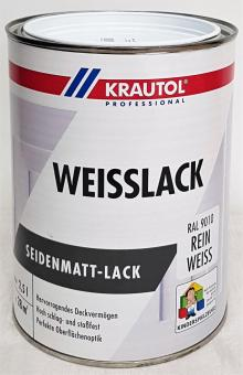 Krautol 2,5L Weisslack Seidenmatt Lack Acryl-Weißlack