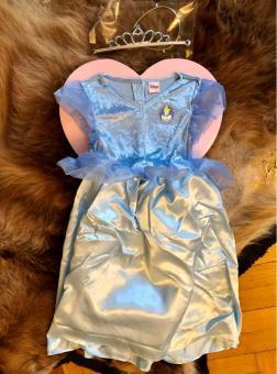 DISNEY PRINCESS Aschenputtel Gr. 122-128 Kostüm mit Geschenkverpackung