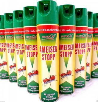 Ameisenspray 400ml Ameisenstopp Spray gegen Ungeziefer Insekten Ameisen
