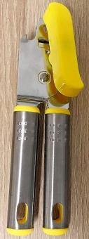 Dosenöffner mit Metallgriff gelb Büchenöffner Konserve Öffner