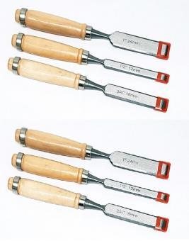 2x Holzmeißel SET 3tlg.  Holzbeitel Meißel Stechbeitel Stemmeisen