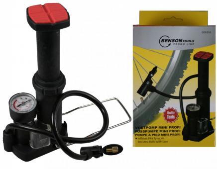 Profi Mini Luftpumpe mit Manometer Fahrradpumpe Pumpe für Bälle