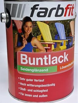 2,5L farbfit Buntlack seidenglänzend Kunstharz Farbauswahl