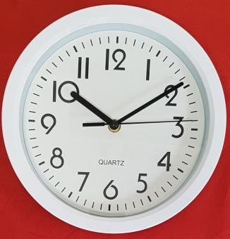 Wanduhr weiß Quarzuhr Uhr Bürouhr Werkstattuhr Hängeuhr