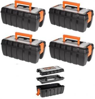 Werkzeugkiste Werkzeugkoffer mit Kleinteilemagazin Kunststoff Kiste leer