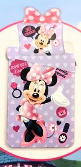 """Bettwäsche Minnie Mouse 140x200cm """"Purple 03"""""""