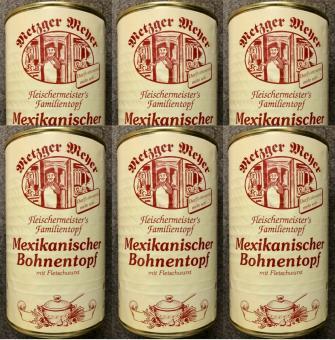 Mexikanischer Bohneneintopf (6x) 1200g mit Fleischwurst Bohnensuppe