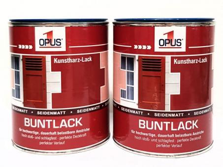 Opus1 Buntlack SEIDENMATT 0,75L  (2x) KUNSTHARZLACK Farbe Lack
