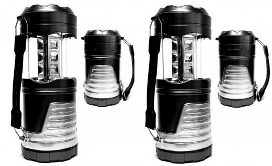 Campinglampe (2x) Laterne Taschenlampe Lampe LED ausziehbar