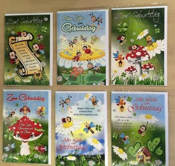 Geburtstagskarten Glückwunschkarten Grußkarten Geburt Geburtstag 51-1638