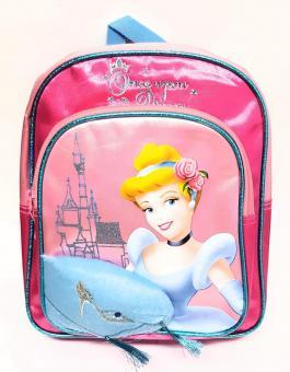 DISNEY Rucksack Kindergarten Cinderella pink Glitzereffekt