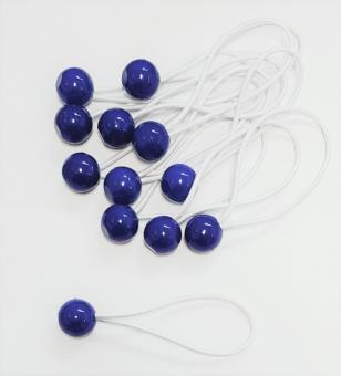 SPANNGUMMI blau mit Kugel Planenspanner 15cm Gummispanner Zeltgummis
