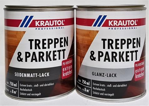 0,75L Krautol Treppen & Parkett Lack PU-verstärkt Lack farblos