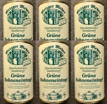 Grüner Bohneneintopf (6x) 1160g Bohnensuppe mit Schweinefleisch