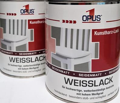 OPUS1 WEISSLACK seidenmatt 0,75L Kunstharz-Lack, Lack