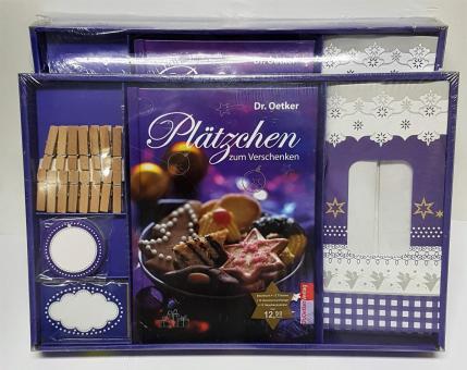 """Set Geschenktüten Anhänger + Backbuch """"Plätzchen zum Verschenken"""""""