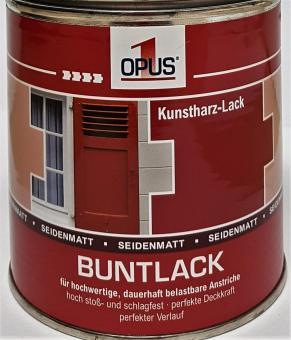 Opus1 Buntlack SEIDENMATT 375ml KUNSTHARZLACK stoßfest Farben Lack