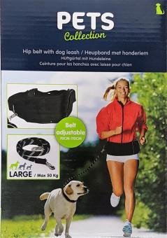 Hundeset Hüftgurt + flexible Leine für große Hunde max 50 kg