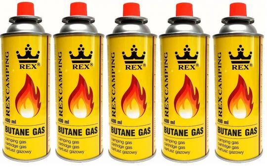 REX Butangas  227g Gaskartusche Campinggas Brenner Kocher Gas