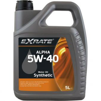 Motoröl Alpha 5W-40 5L EXRATE Universal Motoröl PKW KFZ Öl