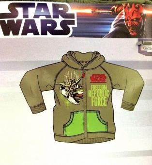 Star Wars Sweatjacke mit Kapuze Gr. 152 grün Jacke Pullover Hoodie Hoody