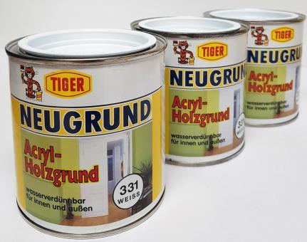 Neugrund Tiger (3x 0,375L) Acryl Holzgrund Holz weiß