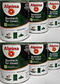 Alpina Buntlack 0,75L LAUBGRÜN seidenmatt RAL 6002