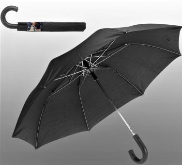 Herren Damen AUTOMATIK TASCHENSCHIRM SCHWARZ,Regenschirm Minischirm