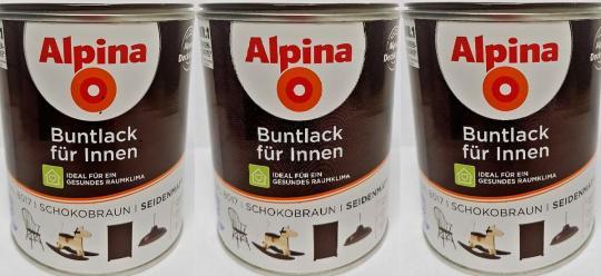 Alpina Buntlack  innen seidenmatt schokobraun Lacke RAL 8017