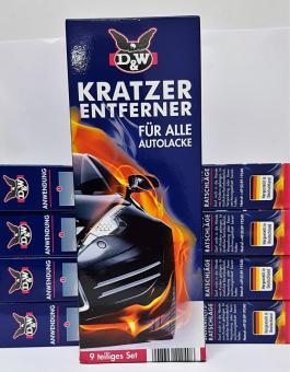 D&W Kratzer Entferner (5x) 9tlg Set Autolacke Auto Spezial Politur