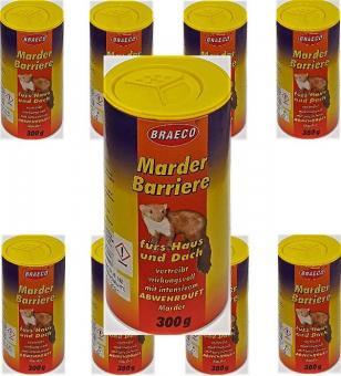 MARDER Barriere 300g BRAECO Marderschreck Abwehr Fernhaltemittel