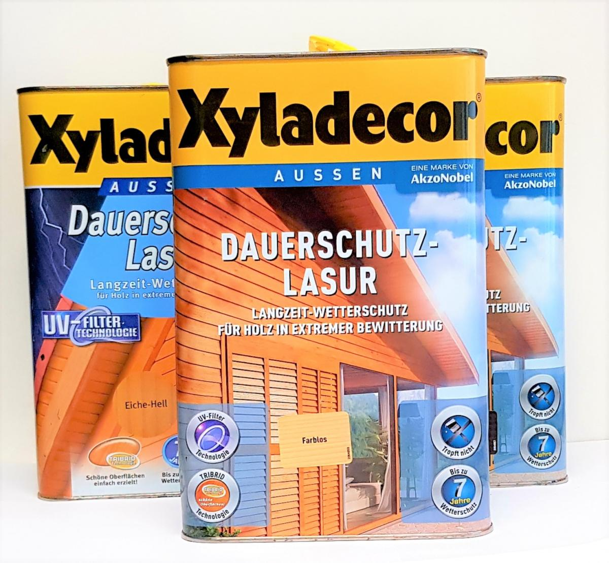 Xyladecor Farben.Xyladecor 4l Dauerschutzlasur Lasur Dauer Farbe Holz Anstrich