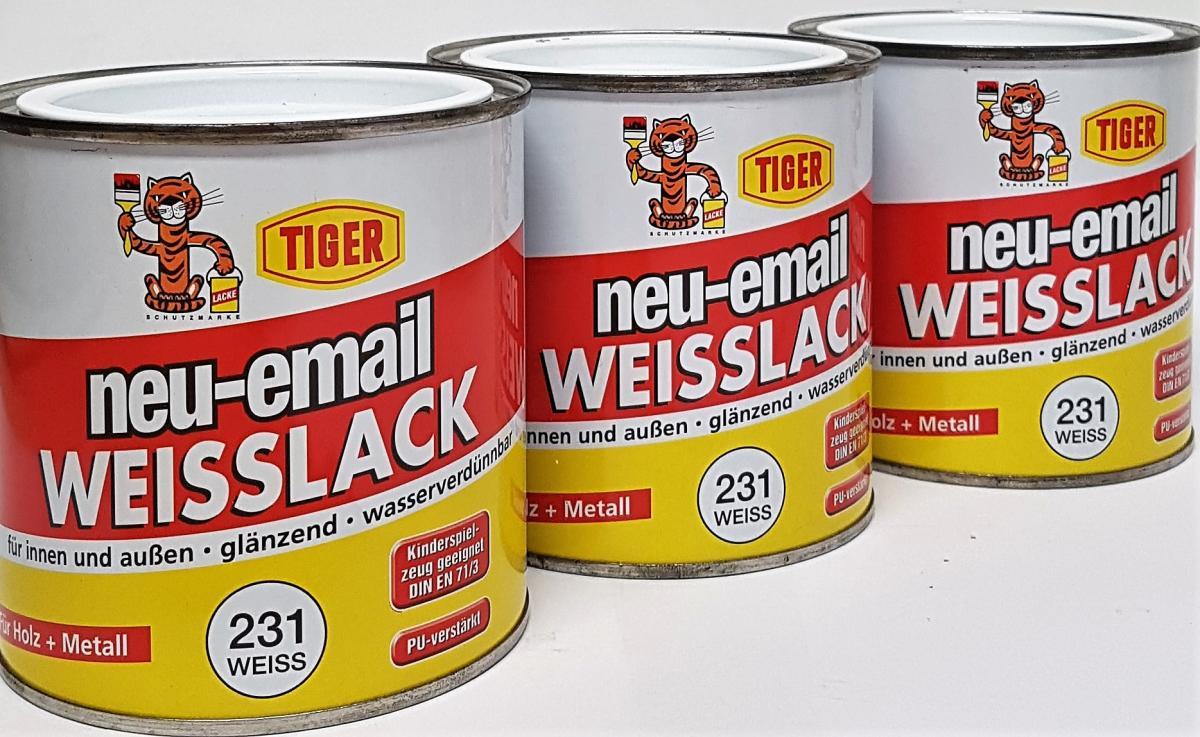Kingkauf Tiger Weisslack Neu Email Glänzend Acryllack Für