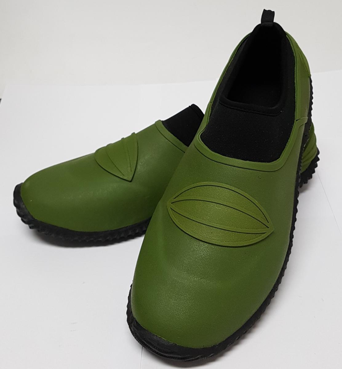 Gartenschuhe grün Gummischuhe Galoschen Unisex Gr 38 bis 41