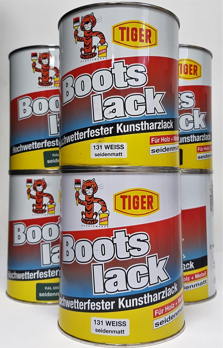 Kingkauf Bootslack Kunstharzlack Tiger 2kg 2x 1kg Seidenmatt